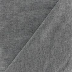 Tissu Chambray noir x 10cm - Ma Petite Mercerie