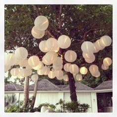 Round hill wedding lanterns