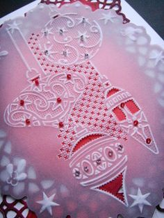 Christmas Baubles stencil and Parchment Craft