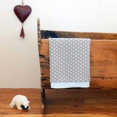 Modern baby blanket Cotton and pique blanket by StudioBornstein
