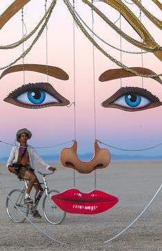 Art.Beautiful Face Installation at Burning Man#art#Installation#Burning Man - Festival