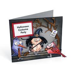 Sizzix.com - Halloween Costume Party Invite