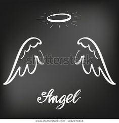 Angel wings icon sketch collection, religious calligraphic text symbol of Christianity hand drawn vector illustration sketch, drawn in chalk on a black Board Angel Wings Drawing, Wings Icon, Symbol Drawing, Angel Vector, Wings Wallpaper, Text Symbols, Angel Tattoo Designs, Christian Symbols, Chalk Drawings