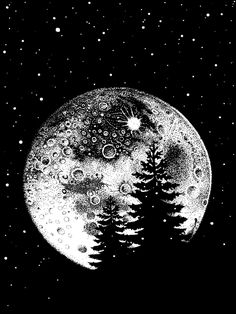 Art в 2019 г. moon painting, moon drawing и moon sketches. Moon Sketches, Art Sketches, Art Drawings, Art And Illustration, Ink Illustrations, B&w Wallpaper, Dibujos Zentangle Art, Black Paper Drawing, Moon Drawing