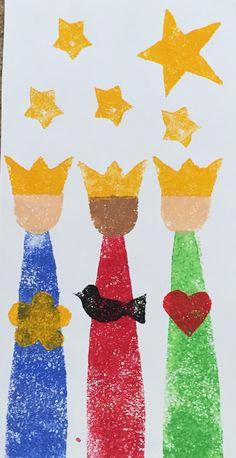 Reyes Magos Taller Preescolares Museo de Arte de Puerto Rico Christmas Crafts For Kids, Kids Christmas, Hand Painted Rocks, Jingle Bells, Art Education, Ladybug, Art For Kids, Nativity, Paper Crafts