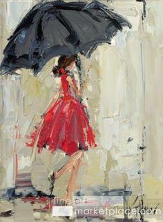 Dancing in the Rain II by Kathryn Trotter www.fineartmarketplace.com/#