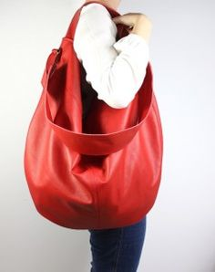 Hobo Red Leather