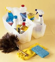 Quick Tip:  Use a cleaning caddy so that you will always have the supplies you need when you need them.