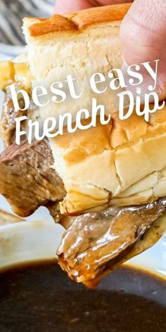 The Best Easy French Dip Recipe - main dishes #maindishes French Dip Recipes, French Fries Recipe, Homemade French Fries, French Dip Au Jus, Au Jus Recipe, My Favorite Food, Favorite Recipes, Italian Spices, Food Places