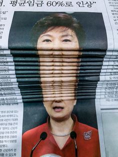 South Korea's President, Park Geun-hye, makes front page news over a political scandal.