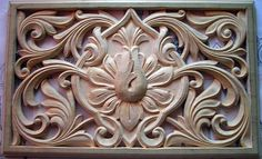 Stone Carving, Wood Carving, Wood Molding, Wooden Flowers, Carving Designs, Leather Pattern, Mandala Design, Door Design, Islamic Art