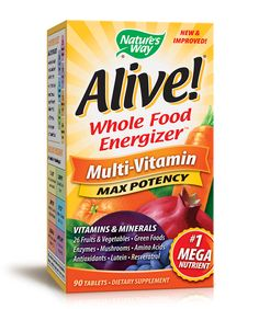 Check out this $3.00 off Coupon for one Alive!® Multi-Vitamin Product from Nature's Way®