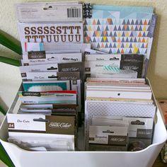 #papercraft #crafting #supply #organization  room of Dana with Studio Calico