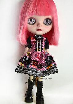 Vestido para muñeca Blythe de RopitasKawaii en Etsy