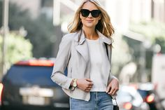 Fashion Jackson, Dallas Blogger, Fashion Blogger, Street Style, Club Monaco Tovah Jacket, White Top, Chloe Faye Black Handbag