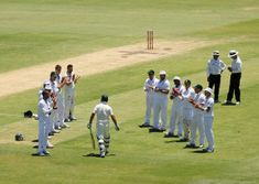 Respect: Ricky Ponting was given a guard of honour by the South Africans © passion of sportsmanship spirit