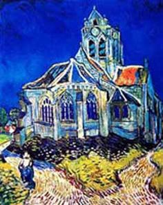 """""""The Church at Auvergne"""" by Vincent Van Gog"""