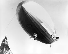 USS Macon (ZRS-5) preparing to land. The US Navy's last flying aircraft carrier.