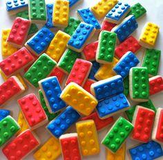 Lego cookies - Check out hayleycakesandcookies.com or on Facebook.  Her stuff is AMAZING!