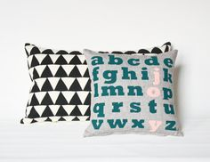 Heres a pillow that can bring you both comfort and joy!    PRODUCT DETAILS  Fabric: organic natural cotton, backed in organic grey cotton  Pillow