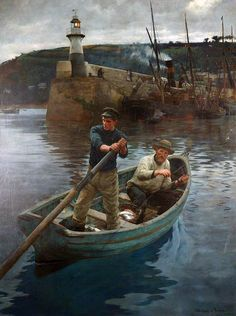 """Stanhope Forbes (1857 – 1947),""""The Lighthouse"""", 1892 Great Britain, Realism / Newlyn School."""