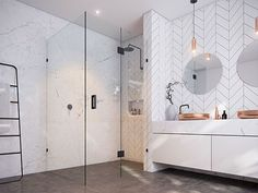 Image result for how to brace shower glass without ceiling