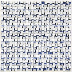 """""""Blues Frenzy"""" by Gregg Welz, Drawing Paper, 40"""" x 40""""  *SOLD"""