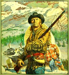 Cowboy Art, Cowboy Western, West Art, Architecture Tattoo, Le Far West, Native American History, Mountain Man, Pulp Art, Old West