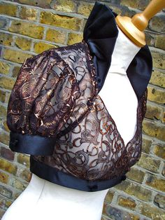 Victorian steampunk shrug in metallic copper embroidered lace Small to Plus sizes Steampunk Wedding, Victorian Steampunk, Victorian Fashion, Gothic, Neo Victorian, Steampunk Accessories, Costume Accessories, Plus Size Steampunk, Edwardian Costumes