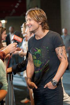 Keith Urban Back Tattoo