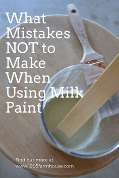 Are you ready to tackle milk paint? Check out these tips and tricks so that you don't make mistakes Furniture Update, Furniture Makeover, Diy Furniture, Farmhouse Style Decorating, Decorating On A Budget, Chalk Paint Projects, Paint Ideas, Wood Projects, Craft Projects