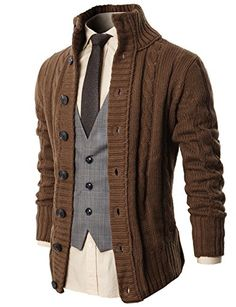 H2H Mens Premium Various Styles Twisted Knit Cardigan Sweater with Button Details - http://www.darrenblogs.com/2017/01/h2h-mens-premium-various-styles-twisted-knit-cardigan-sweater-with-button-details/