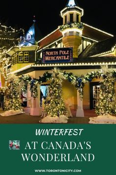 Winterfest at Canada's Wonderland in Toronto is a new winter holiday festival. #Winterfest #CanadasWonderland #Christmas #festival #holiday #Toronto