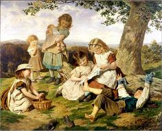 """""""The Children's Story Book"""" -- by Sophie Anderson (1823-1903)"""