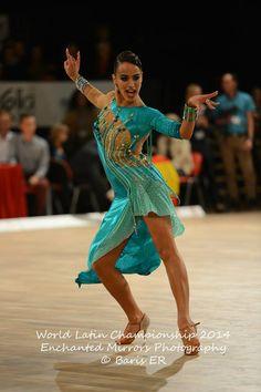 Turquoise latin ballroom dress
