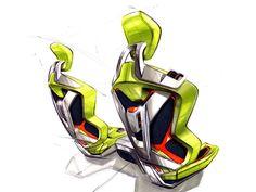 Ford iosis MAX concept seats design sketch - Car Body Design