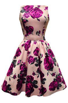 Violet Rose Floral Tea Dress : Lady Vintage