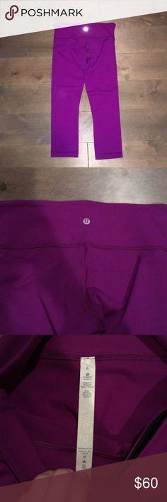 Lululemon Wunder Under Leggings BRAND NEW lulus never worn, size 6 deep plum purple color super stretch material lululemon athletica Pants Leggings