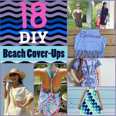 DIY Beach Cover-Ups -- perfect for the pool, too! Tipsaholic.com #diy #sewing #nosew #beach #pool