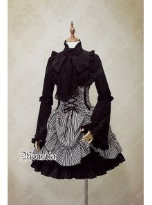 78ed37822d9 Cheap Sweet Cotton Gothic Stripe Steel Mousita Lolita Bust Skirt Sale At Lolita  Dresses Online Shop. We provide Lolita products with quality and best ...