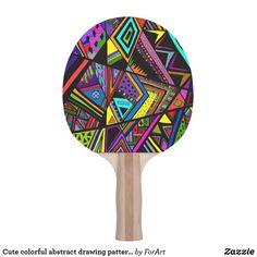 Shop Cute colorful abstract drawing patterns design ping pong paddle created by ForArt. Ping Pong Paddles, Abstract Drawings, Pattern Design, Two By Two, Colorful, Patterns, Cute, Prints, Wall