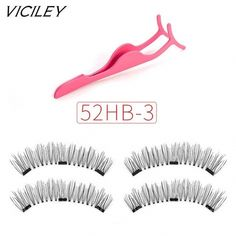 VICILEY 2018 New Style 3 Magnet 6D Magnetic Eyelashes Magnet Lashes Ma – eefury #VaselineEyelashes Vaseline Eyelashes, False Eyelashes Tips, Natural False Eyelashes, Curling Eyelashes, Longer Eyelashes, Fake Eyelashes, False Lashes, Eyelash Brands, Eyelash Tips