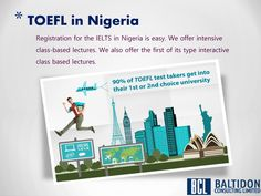 TOEFL score is accepted at over 9,000 colleges and universities in over 130 countries, including nearly every top university in the U.S., Canada, and Australia. Baltidon offers TOEFL classes in Nigeria with above 10+ year experience faculty. #TOEFL #English #HigherStudy #StudyinAbroad #AmericanAccent