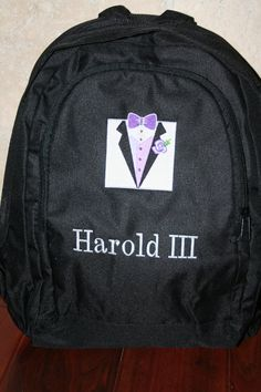 Personalized Backpack Designed by You by EmbroideryMark on Etsy, $22.00