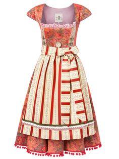 #Farbbberatung #Stilberatung #Farbenreich mit www.farben-reich.com Dirndl apricot Vintage Gobelin Rot