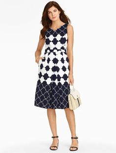 Talbots - Geo-Clover Jacquard Dress | Dresses | Petites