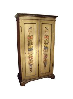 Spectacular th Century Painted Italian Armoire u