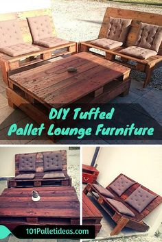 DIY Tufted #Pallet Lounge #Furniture | 101 Pallet Ideas