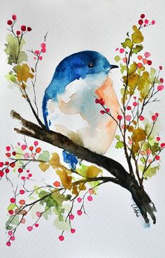 25 Step By Step Easy Watercolor Paintings Example for Beginners