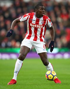 Kurt Zouma of Stoke City in action during the Premier League match between Stoke City and Swansea City at Bet365 Stadium on December 2, 2017 in Stoke on Trent, England.